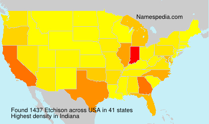 Surname Etchison in USA