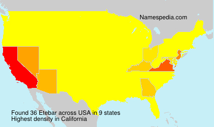 Surname Etebar in USA