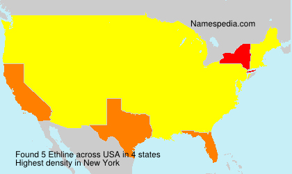 Surname Ethline in USA