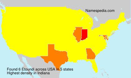 Surname Etoundi in USA