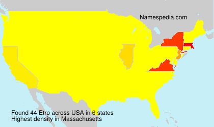 Familiennamen Etro - USA