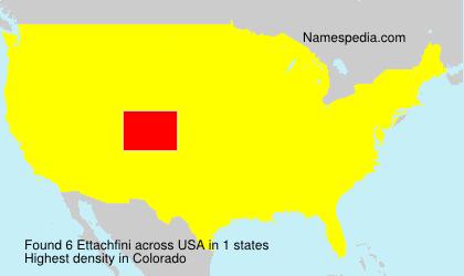 Surname Ettachfini in USA