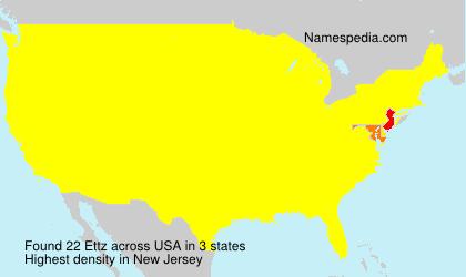 Surname Ettz in USA
