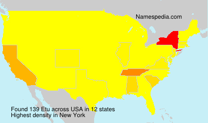 Surname Etu in USA
