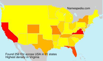 Surname Etz in USA