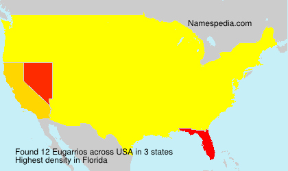 Surname Eugarrios in USA