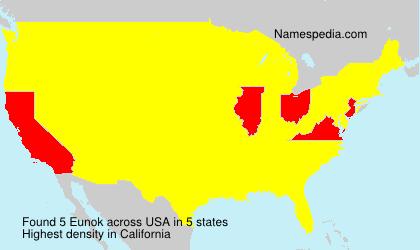 Surname Eunok in USA