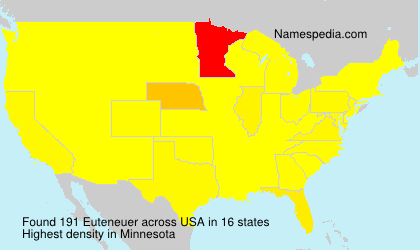 Surname Euteneuer in USA