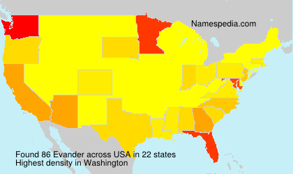 Surname Evander in USA