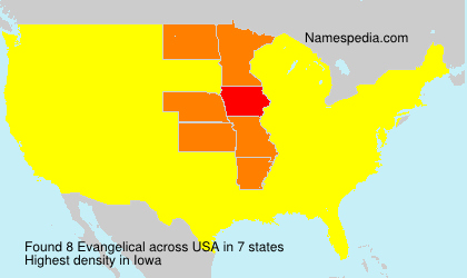 Surname Evangelical in USA