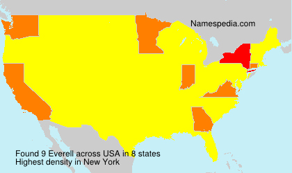 Surname Everell in USA