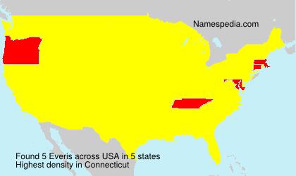 Surname Everis in USA