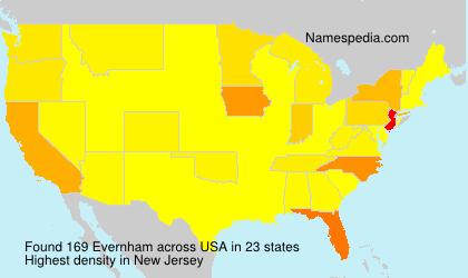 Familiennamen Evernham - USA