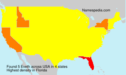 Surname Eveth in USA