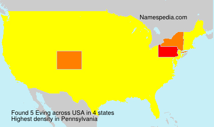 Surname Eving in USA