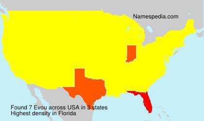 Surname Evou in USA