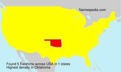 Surname Ewohime in USA