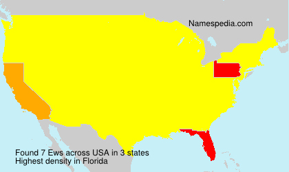 Surname Ews in USA