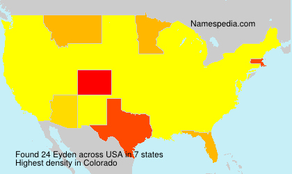 Surname Eyden in USA