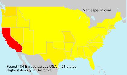 Familiennamen Eyraud - USA