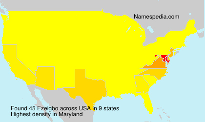 Surname Ezeigbo in USA
