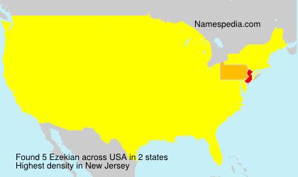 Surname Ezekian in USA