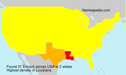 Surname Eznack in USA