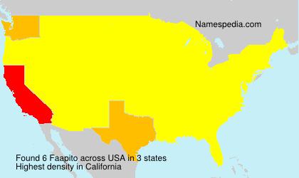 Surname Faapito in USA
