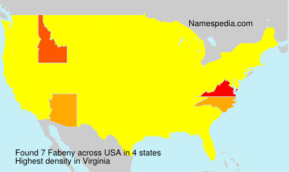 Surname Fabeny in USA