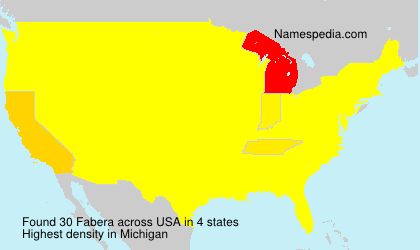 Surname Fabera in USA