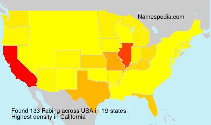 Familiennamen Fabing - USA