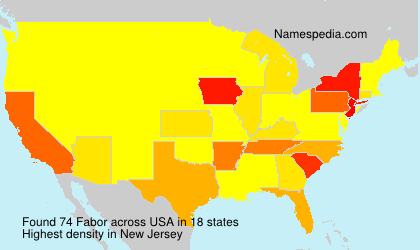 Surname Fabor in USA