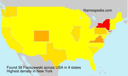 Surname Faciszewski in USA