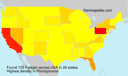 Surname Fadgen in USA