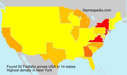 Familiennamen Fadlalla - USA