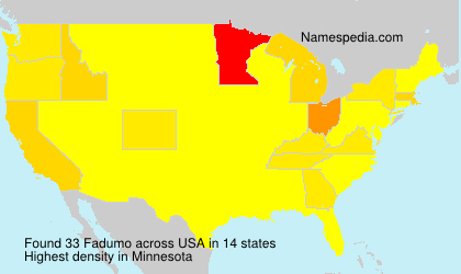Surname Fadumo in USA