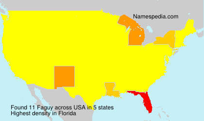 Surname Faguy in USA