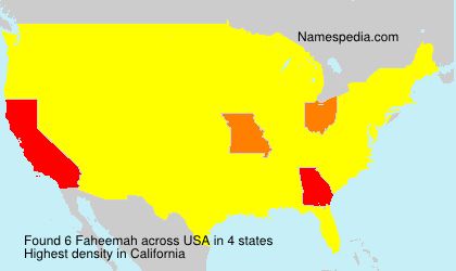 Surname Faheemah in USA