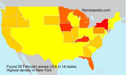 Familiennamen Fahrudin - USA