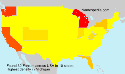 Surname Fahselt in USA