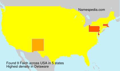 Surname Faich in USA