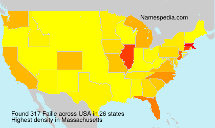 Surname Faille in USA