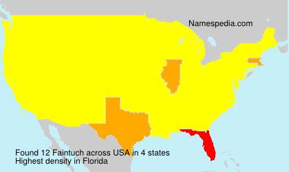 Surname Faintuch in USA