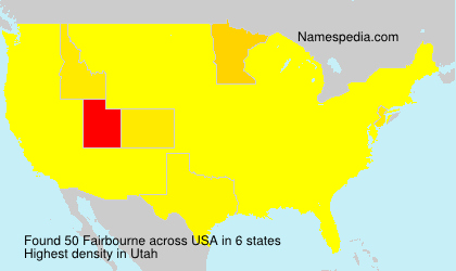 Familiennamen Fairbourne - USA