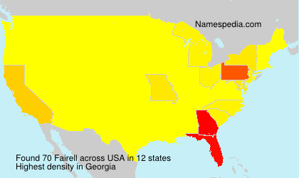 Surname Fairell in USA