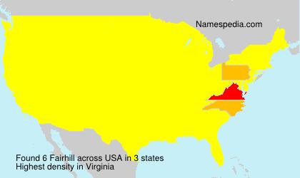 Surname Fairhill in USA