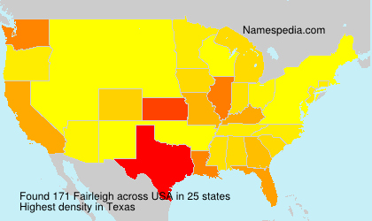 Surname Fairleigh in USA