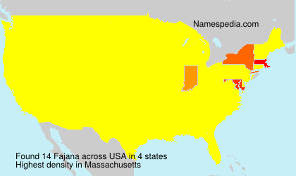 Surname Fajana in USA