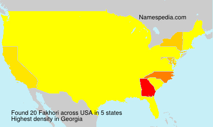 Surname Fakhori in USA