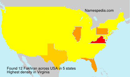 Surname Fakhran in USA